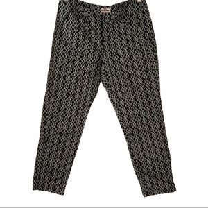 Summer Cropped chino style pants black & white 6